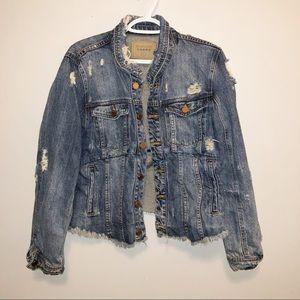 BLANKNYC Reworked Denim Jacket Size Large